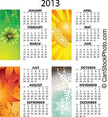 El calendario del vector 2013