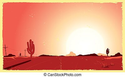 El calor del desierto occidental