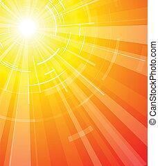 El calor del sol de verano