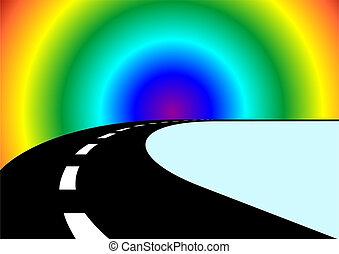 El camino y el arco iris