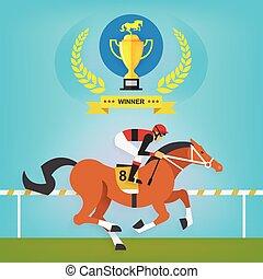 El campeón de la carrera de caballos