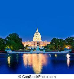 El Capitolio de Sunset Washington DC Congreso
