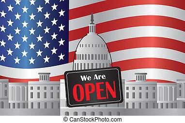 El capitolio de Washington DC con nosotros está abierto