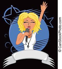 El cartel de Karaoke