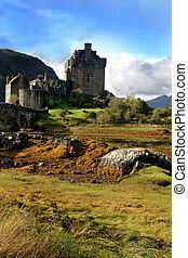 El castillo histórico Escocia