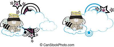 El chico de los dibujos animados de Raccoon