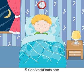El chico de los dibujos durmiendo