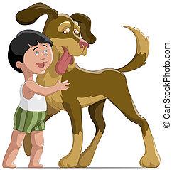 El chico y el perro
