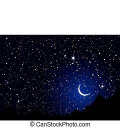 El cielo de las noches espaciales