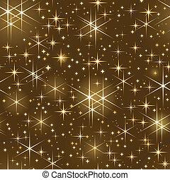 El cielo estrellado, el spar de Navidad