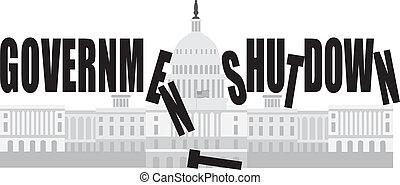El cierre del gobierno de Washington DC