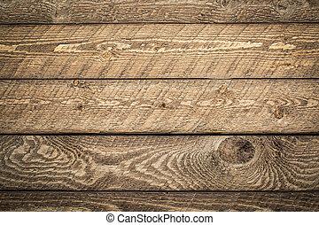 El clima y la madera rústica de granero