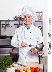 El cocinero de la cocina