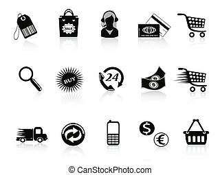 El comercio y los iconos del comercio