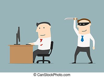 El competidor le da un cuchillo al empresario