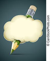 El concepto artístico creativo de la nube