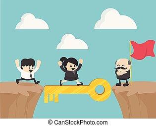 El concepto de éxito empresarial como un grupo de personas corriendo. El símbolo de negocios de ambición, éxito, motivación,
