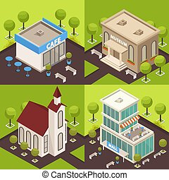 El concepto de arquitectura urbana isometrica