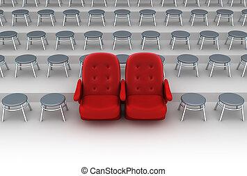 El concepto de asientos VIP