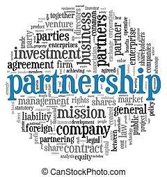 El concepto de asociación en la nube de etiqueta