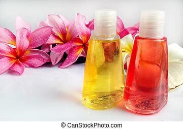 El concepto de bienestar tropical spa  ⁇  aromaterapia con flor de ciruela