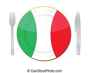 El concepto de comida italiana.