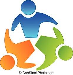 El concepto de compañeros de trabajo del logo