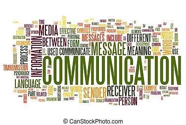 El concepto de comunicación en la nube de palabras