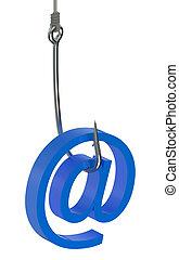 El concepto de correo de Phishing