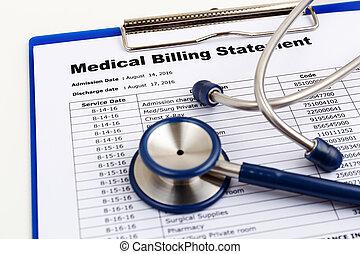 El concepto de costo de salud con factura médica