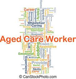 El concepto de cuidado de ancianos de fondo