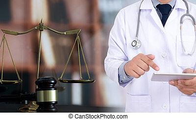 El concepto de derecho de la justicia, la Farmacia Médica, cumple las reglas de la salud.