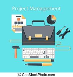 El concepto de dirección plana de proyecto