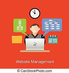 El concepto de dirección web de ilustración. Diseño plano.
