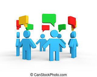 El concepto de discusión de grupo 3D