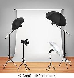 El concepto de diseño de estudio de fotos