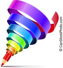 El concepto de diseño de lápices creativo