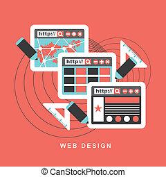El concepto de diseño plano de la web