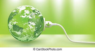 El concepto de energía verde sostenible
