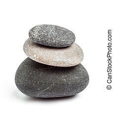 El concepto de equilibrio de las piedras zen