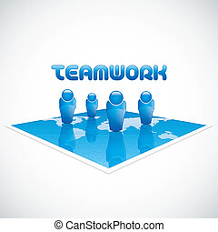 El concepto de equipo de negocios