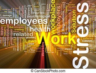 El concepto de estrés del trabajo brilla