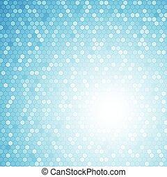 El concepto de fondo abstracto del hexágono azul
