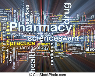 El concepto de fondo de la farmacia brilla