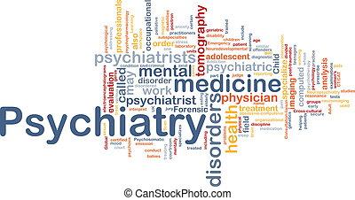 El concepto de fondo de psiquiatría