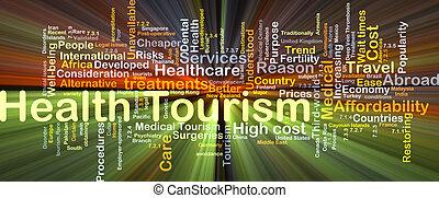 El concepto de fondo de turismo de salud brilla