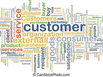El concepto de fondo del cliente