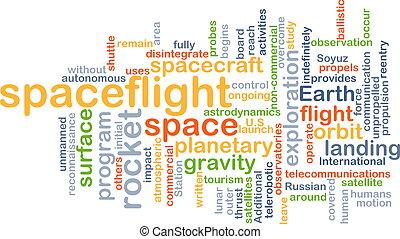 El concepto de fondo del vuelo espacial