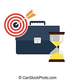El concepto de gestión del tiempo, ilustración vectorial
