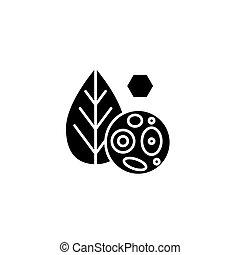 El concepto de icono de las células de las plantas. Células planas vector símbolo, signo, ilustración.